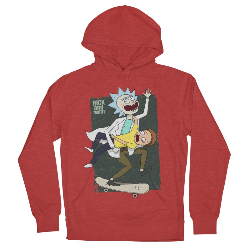 Rick and Morty Shirt Adventure Women's French Terry Pullover Hoody by Diardo's Design Shop