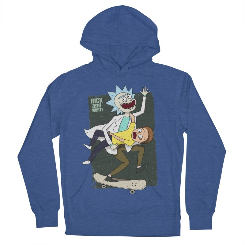 Rick and Morty Shirt Adventure Men's French Terry Pullover Hoody by Diardo's Design Shop