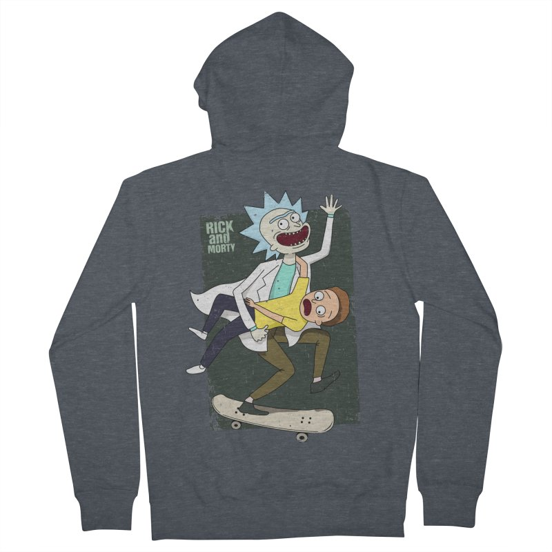 Rick and Morty Shirt Adventure Women's French Terry Zip-Up Hoody by Diardo's Design Shop