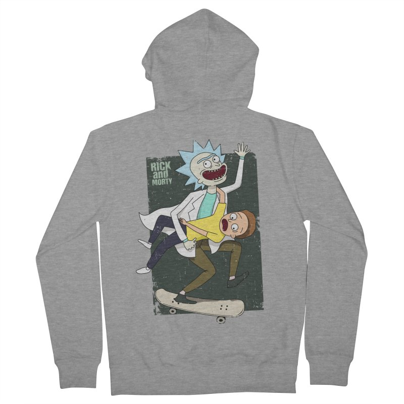 Rick and Morty Shirt Adventure Women's Zip-Up Hoody by Diardo's Design Shop