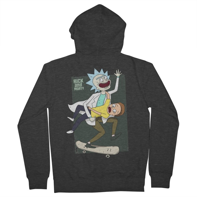 Rick and Morty Shirt Adventure Men's French Terry Zip-Up Hoody by Diardo's Design Shop