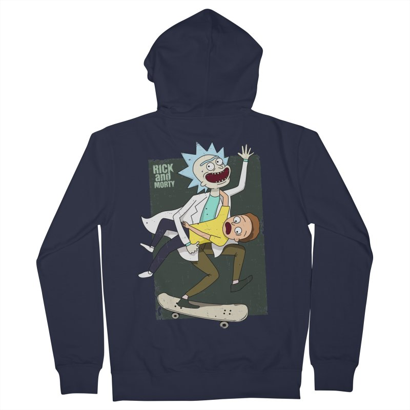 Rick and Morty Shirt Adventure Men's Zip-Up Hoody by Diardo's Design Shop