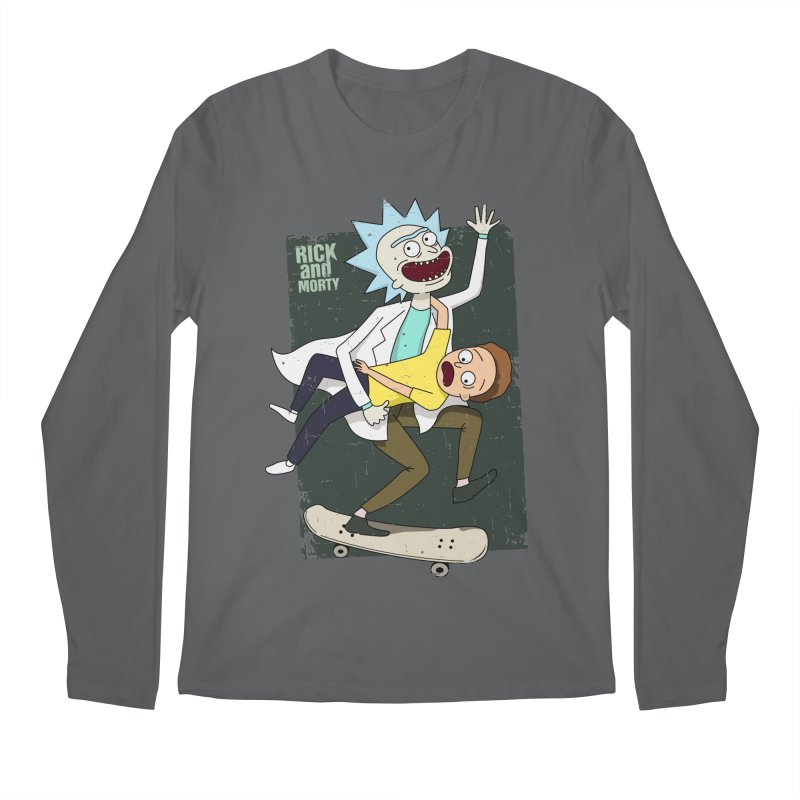 Rick and Morty Shirt Adventure Men's Longsleeve T-Shirt by Diardo's Design Shop