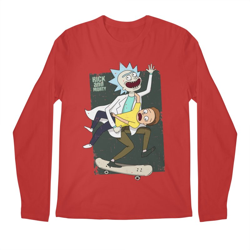 Rick and Morty Shirt Adventure Men's Regular Longsleeve T-Shirt by Diardo's Design Shop