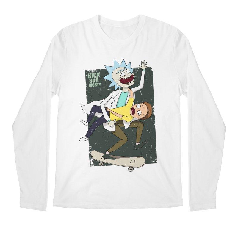 Rick and Morty Shirt Adventure Men's Regular Longsleeve T-Shirt by Diardo's Design Shop