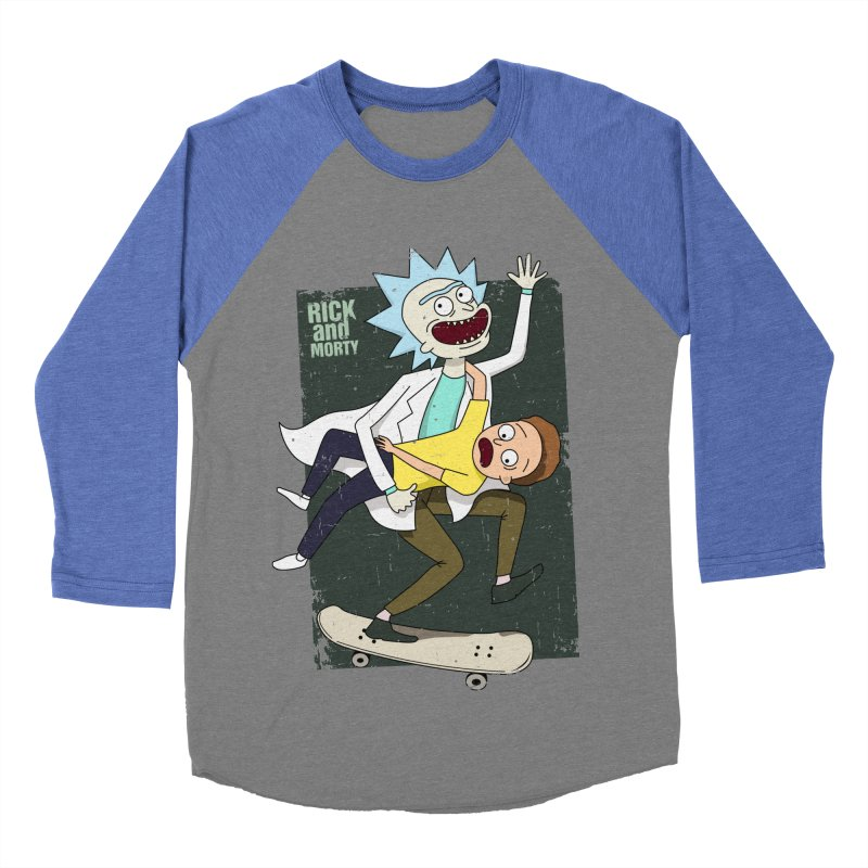 Rick and Morty Shirt Adventure Men's Baseball Triblend T-Shirt by Diardo's Design Shop