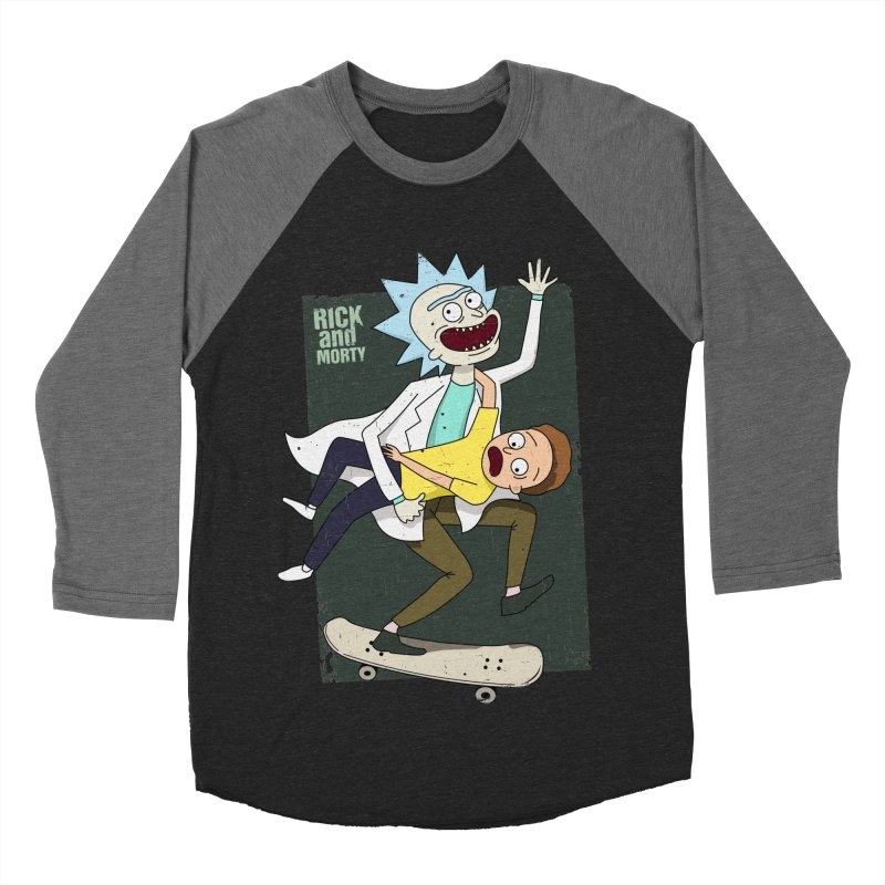 Rick and Morty Shirt Adventure Men's Baseball Triblend Longsleeve T-Shirt by Diardo's Design Shop