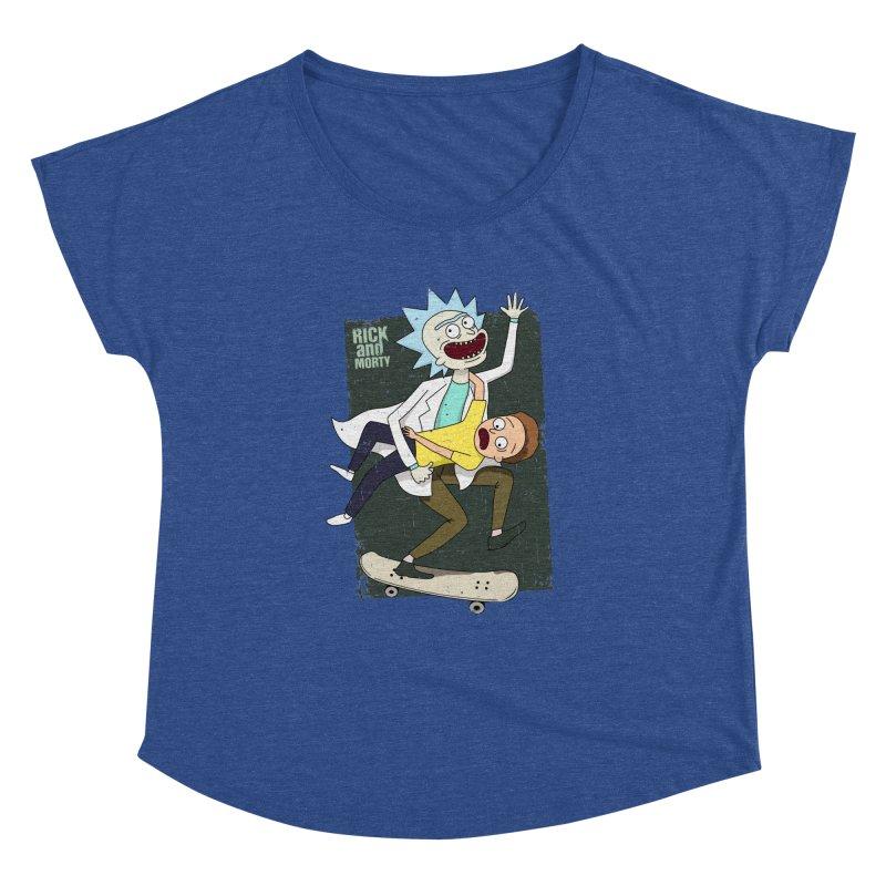 Rick and Morty Shirt Adventure Women's Dolman by Diardo's Design Shop