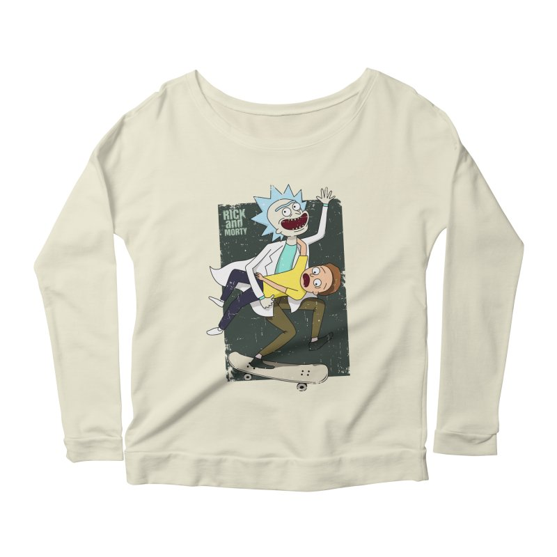 Rick and Morty Shirt Adventure Women's Longsleeve Scoopneck  by Diardo's Design Shop