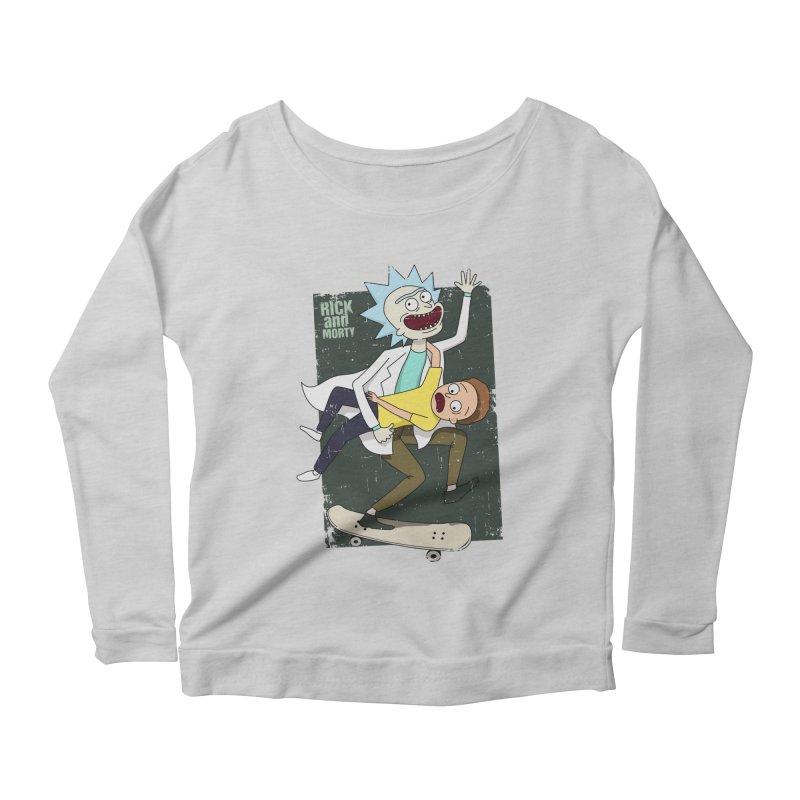 Rick and Morty Shirt Adventure Women's Longsleeve Scoopneck  by Diardo's Design Shop
