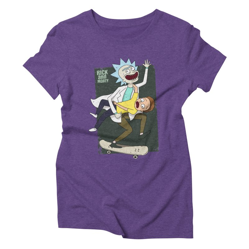 Rick and Morty Shirt Adventure Women's Triblend T-Shirt by Diardo's Design Shop