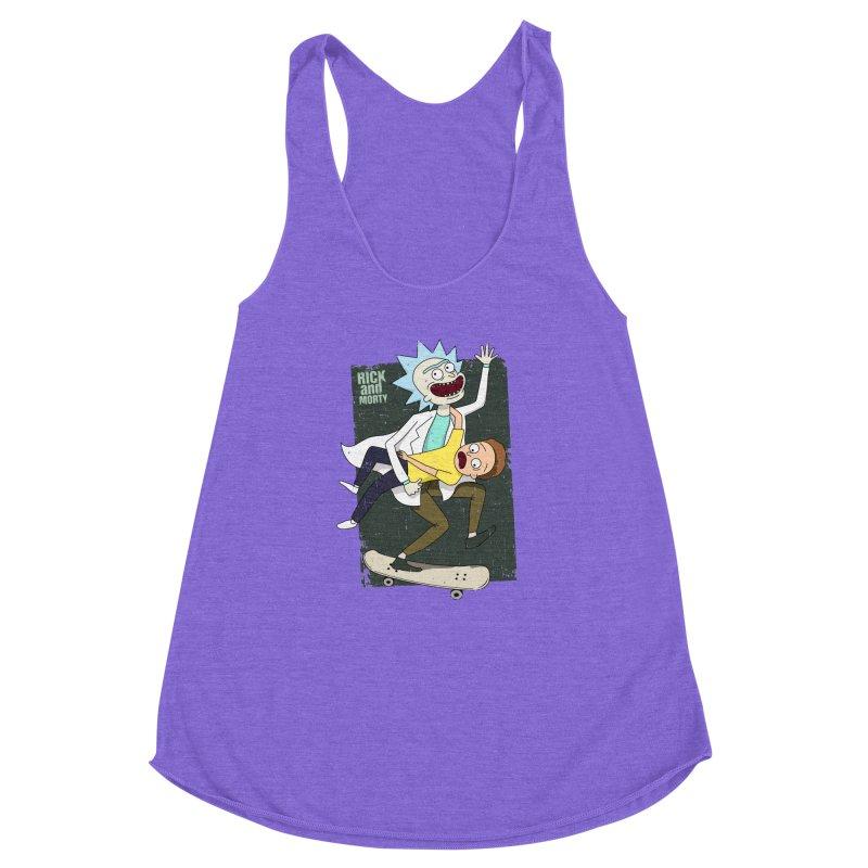 Rick and Morty Shirt Adventure Women's Racerback Triblend Tank by Diardo's Design Shop
