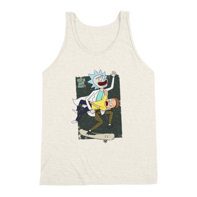 Rick and Morty Shirt Adventure Men's Triblend Tank by Diardo's Design Shop