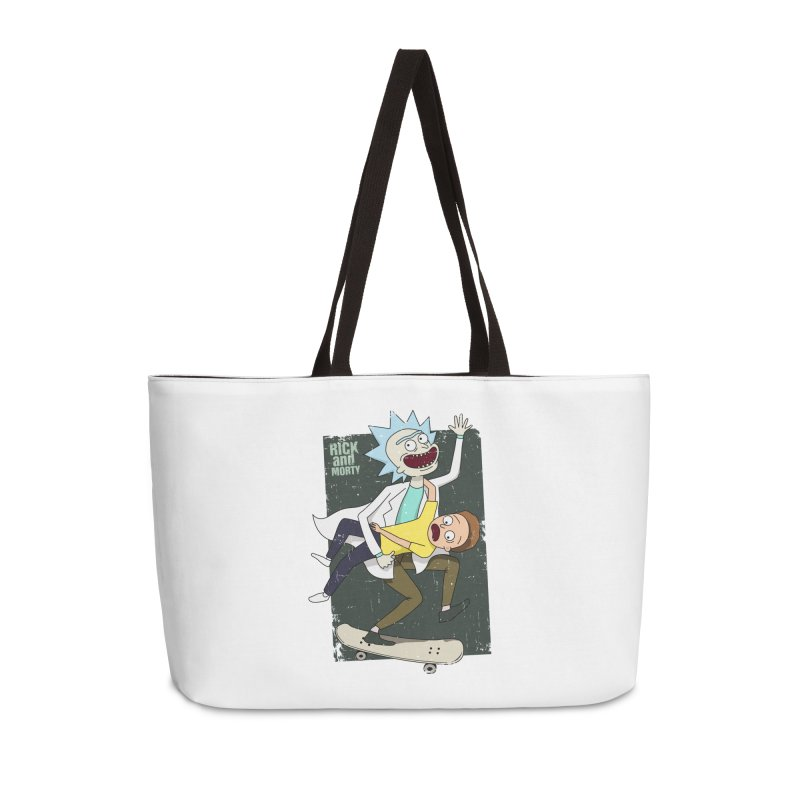 Rick and Morty Shirt Adventure Accessories Weekender Bag Bag by Diardo's Design Shop