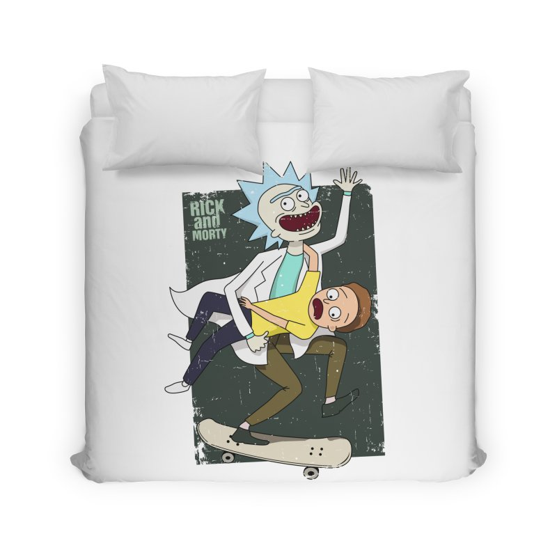 Rick and Morty Shirt Adventure Home Duvet by Diardo's Design Shop