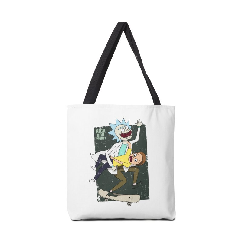 Rick and Morty Shirt Adventure Accessories Bag by Diardo's Design Shop