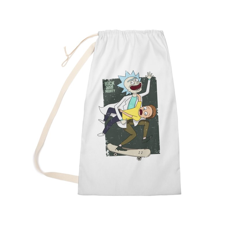 Rick and Morty Shirt Adventure Accessories Laundry Bag Bag by Diardo's Design Shop