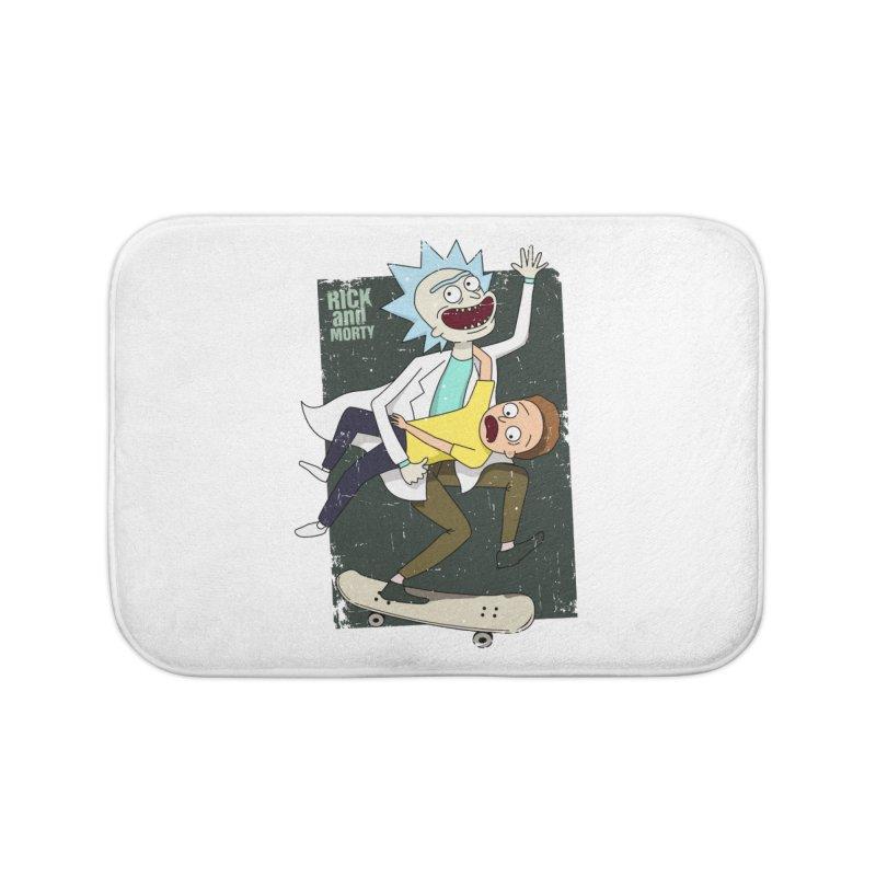 Rick and Morty Shirt Adventure Home Bath Mat by Diardo's Design Shop