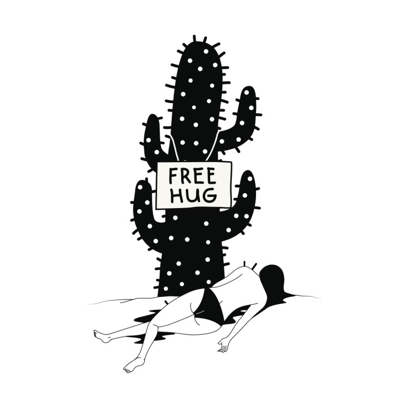 Free Hug Kills Accessories Zip Pouch by Diardo's Design Shop