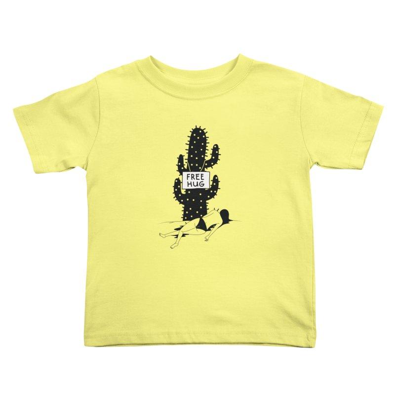 Free Hug Kills Kids Toddler T-Shirt by Diardo's Design Shop