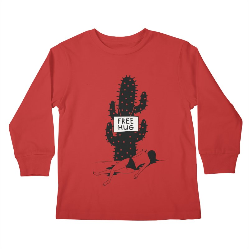 Free Hug Kills Kids Longsleeve T-Shirt by Diardo's Design Shop