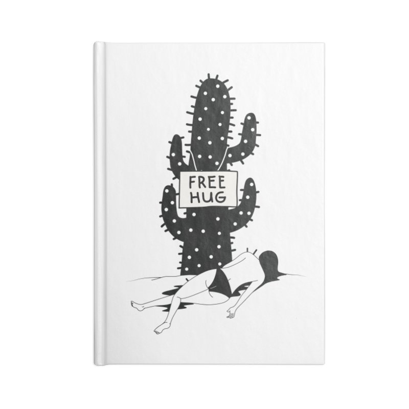 Free Hug Kills Accessories Lined Journal Notebook by Diardo's Design Shop