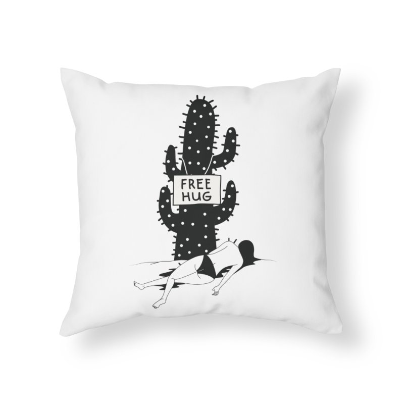 Free Hug Kills Home Throw Pillow by Diardo's Design Shop