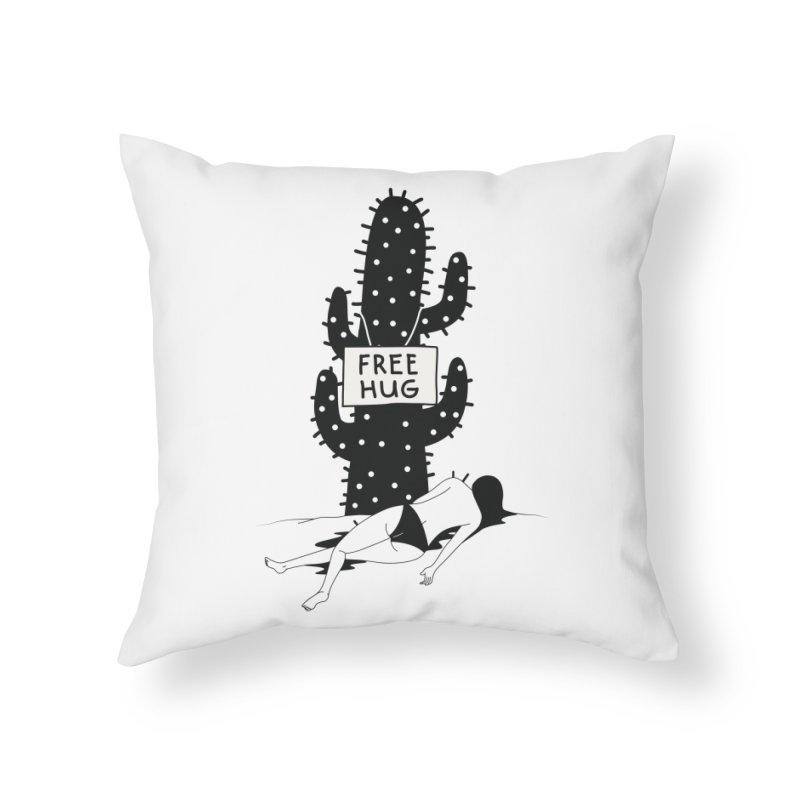 Free Hug Kills Home Throw Pillow by Diardo's Design Shop