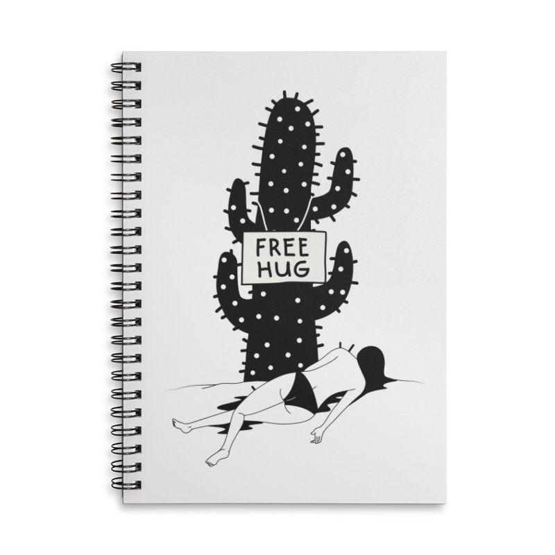 Free Hug Kills Accessories Lined Spiral Notebook by Diardo's Design Shop