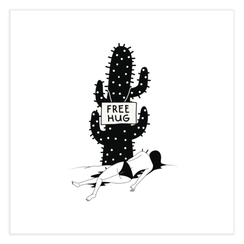 Free Hug Kills Home Fine Art Print by Diardo's Design Shop
