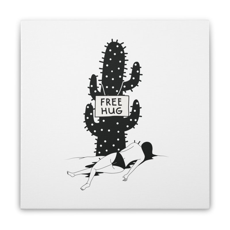 Free Hug Kills Home Stretched Canvas by Diardo's Design Shop