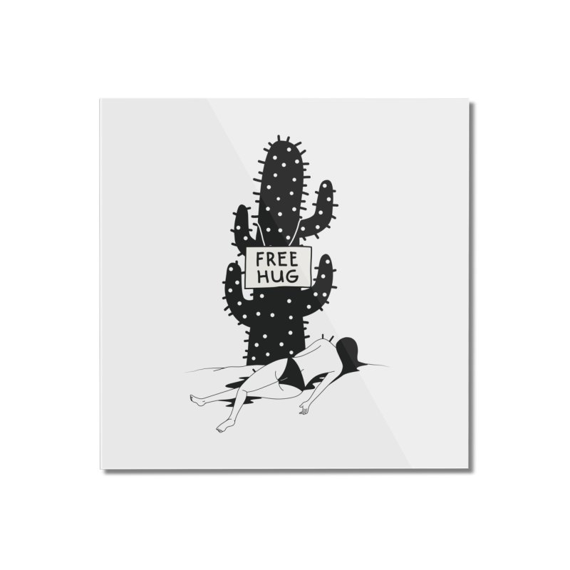 Free Hug Kills Home Mounted Acrylic Print by Diardo's Design Shop
