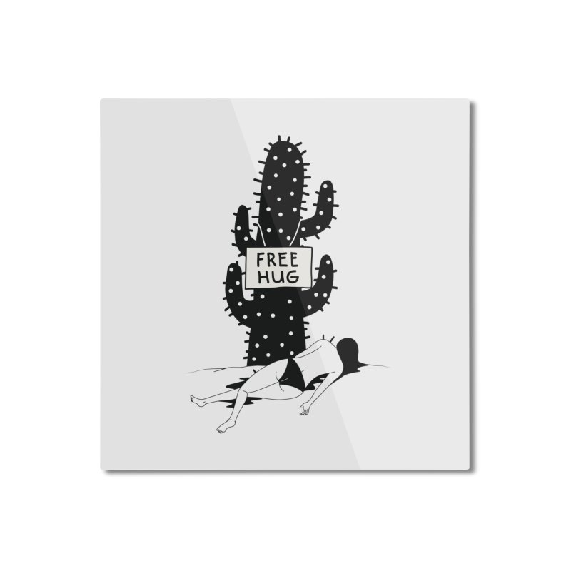 Free Hug Kills Home Mounted Aluminum Print by Diardo's Design Shop