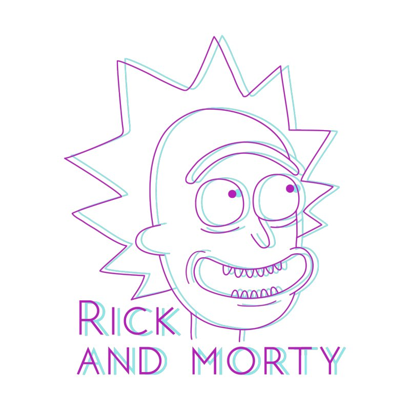 Rick Sanchez Portrait Men's T-Shirt by Diardo's Design Shop