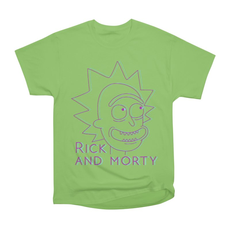 Rick Sanchez Portrait Women's Heavyweight Unisex T-Shirt by Diardo's Design Shop