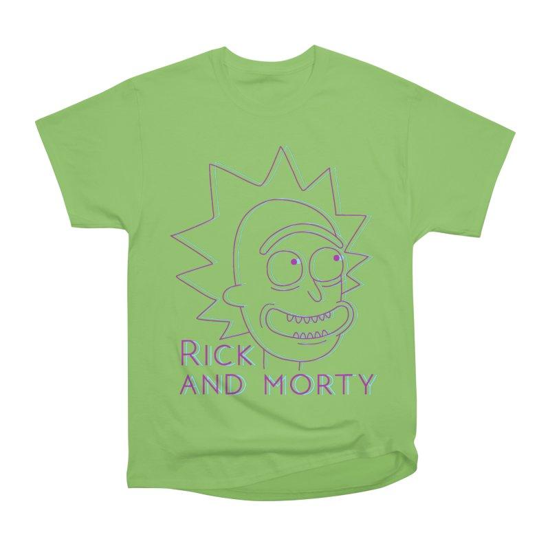 Rick Sanchez Portrait Men's Heavyweight T-Shirt by Diardo's Design Shop