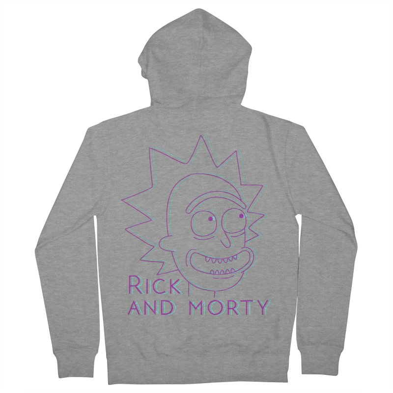 Rick Sanchez Portrait Women's French Terry Zip-Up Hoody by Diardo's Design Shop