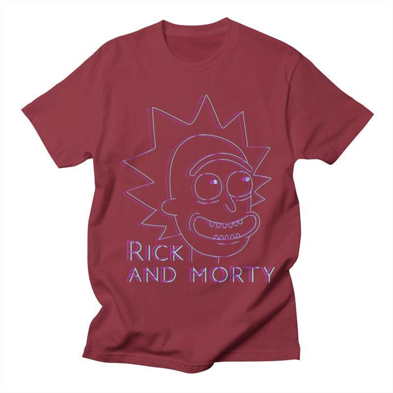 Rick Sanchez Portrait Women's Regular Unisex T-Shirt by Diardo's Design Shop
