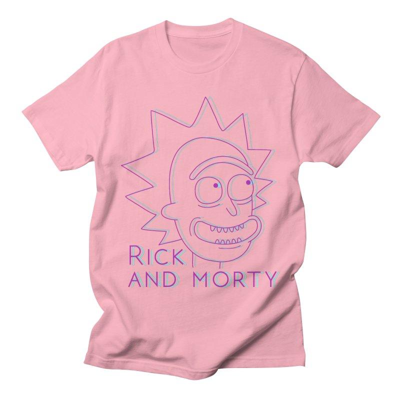 Rick Sanchez Portrait Men's T-Shirt by Diardo's Design Shop