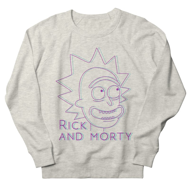 Rick Sanchez Portrait Women's French Terry Sweatshirt by Diardo's Design Shop