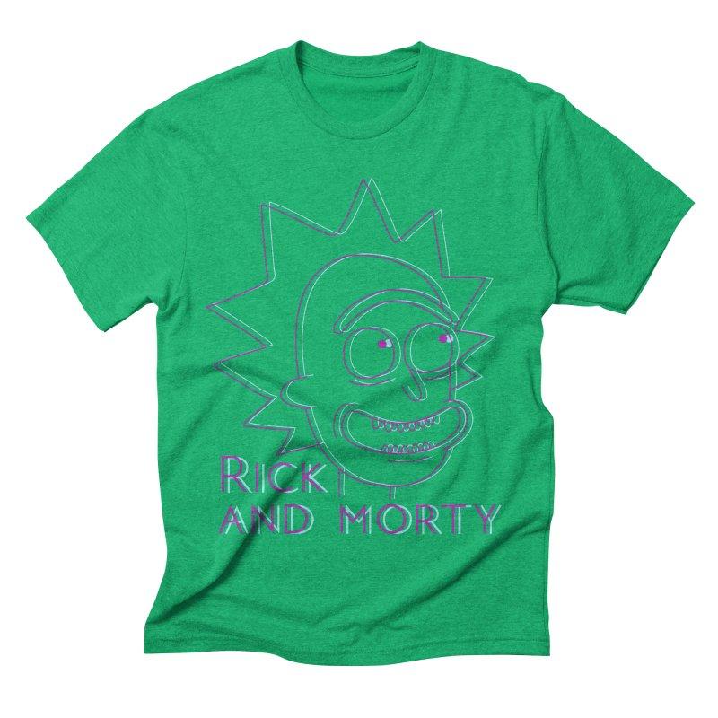 Rick Sanchez Portrait Men's Triblend T-shirt by Diardo's Design Shop