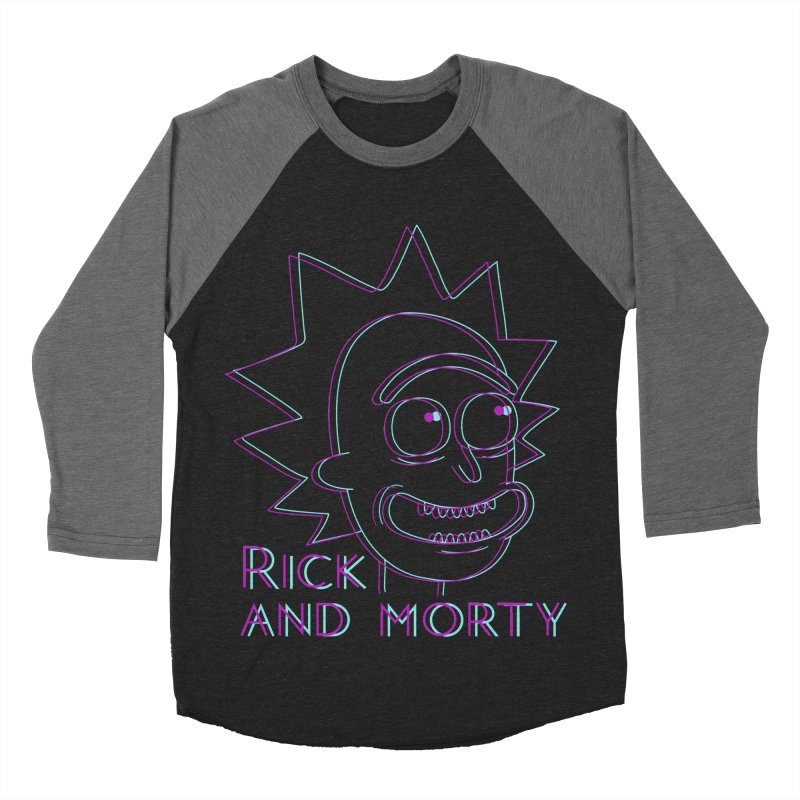 Rick Sanchez Portrait Men's Baseball Triblend T-Shirt by Diardo's Design Shop