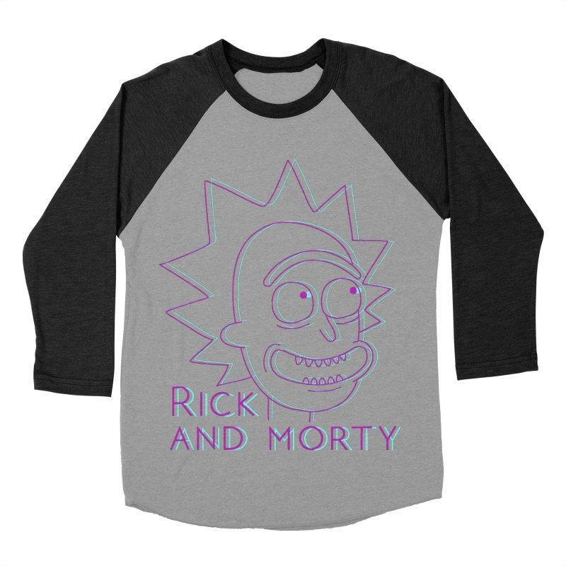 Rick Sanchez Portrait Men's Baseball Triblend T-Shirt by Diardo's Design Shop