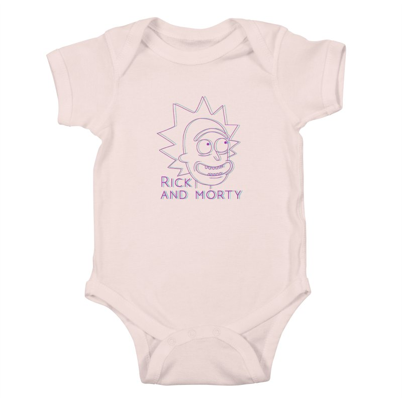 Rick Sanchez Portrait Kids Baby Bodysuit by Diardo's Design Shop