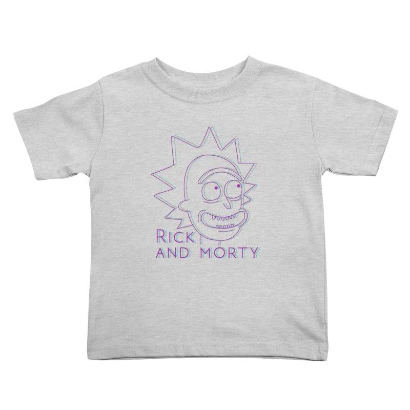 Rick Sanchez Portrait Kids Toddler T-Shirt by Diardo's Design Shop