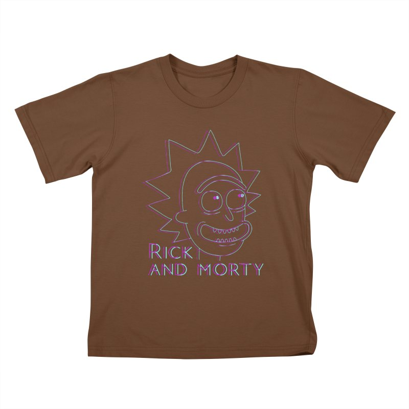 Rick Sanchez Portrait Kids T-Shirt by Diardo's Design Shop