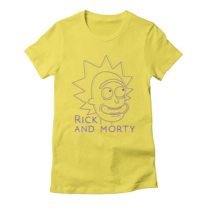Rick Sanchez Portrait Women's Fitted T-Shirt by Diardo's Design Shop