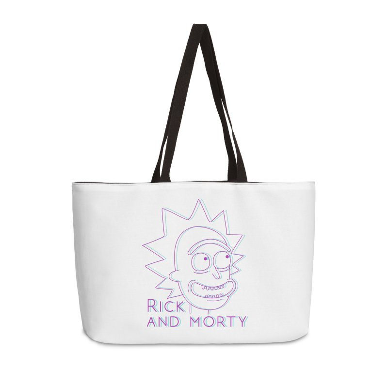 Rick Sanchez Portrait Accessories Weekender Bag Bag by Diardo's Design Shop
