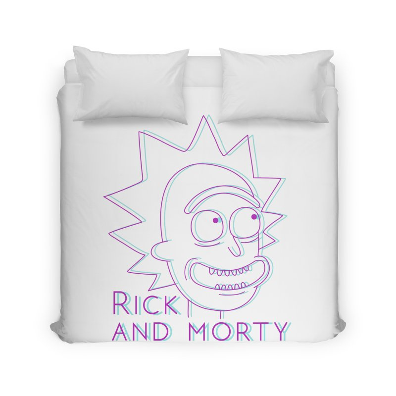 Rick Sanchez Portrait Home Duvet by Diardo's Design Shop