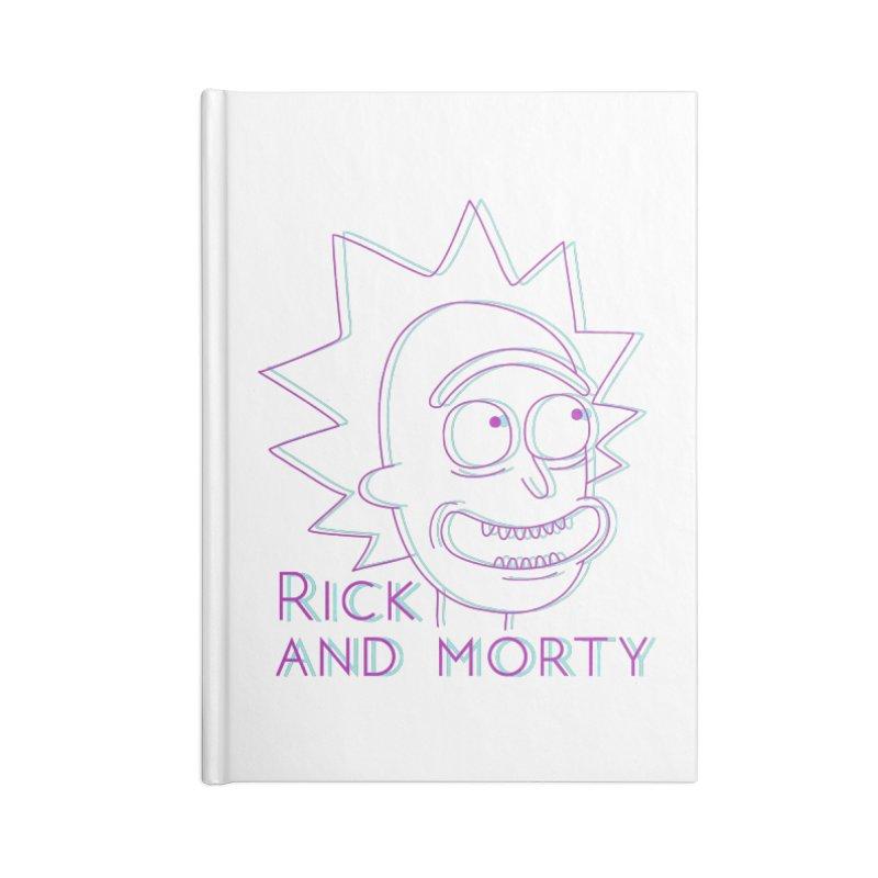 Rick Sanchez Portrait Accessories Lined Journal Notebook by Diardo's Design Shop